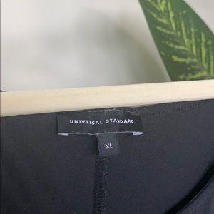 Universal Standard Long Black Dress w/ Tie